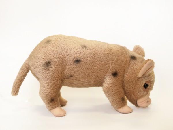Micro Pig Mohair, beige-schwarz