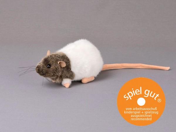 "Ratte ""Rasputin"", braun/weiß, sitzend"