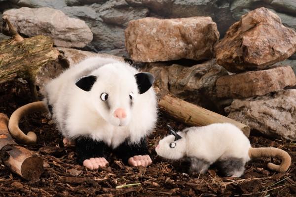 """Schielendes Opossum """"Heidi"""", klein"""