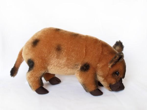 Micro Pig Mohair, rotbraun