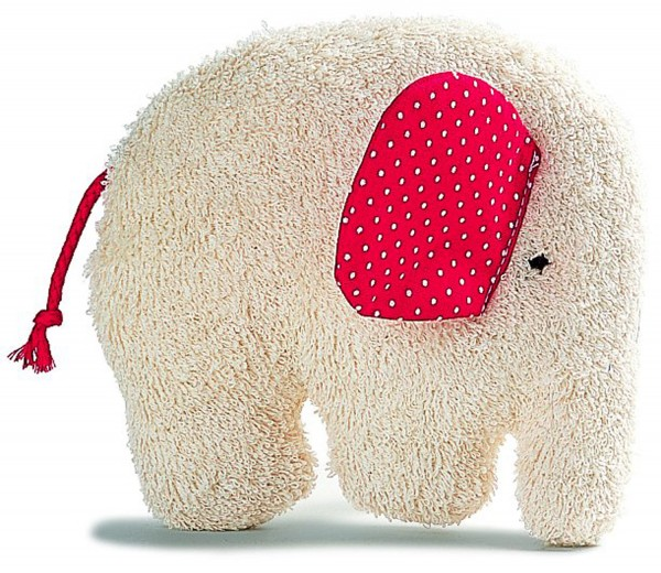 Greifling Elefant, rot
